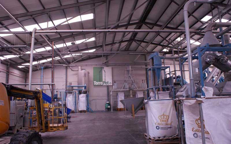 PVC instalado en sala de producción