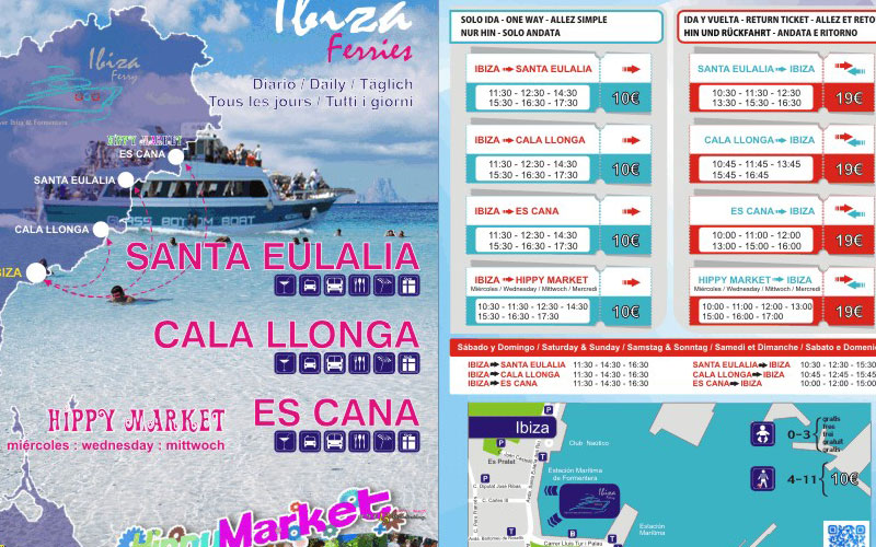 Folleto Ibiza Ferry