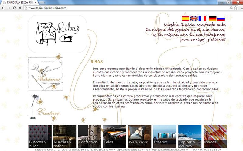 Su web de dise o el globo agencia de dise o - Tapiceria ibiza ...